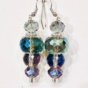 Drop Earrings Colors Blend Perfectly AAA Crystals